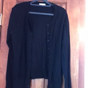 Long Sleeve Black Cardigan with buttons Large